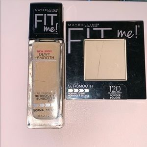 Maybelline Fit Me Foundation & Powder (Shade: 120)
